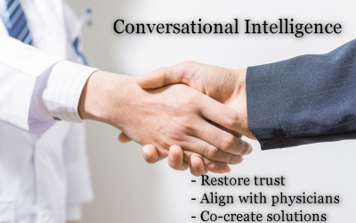 Conversational Intelligence – the Tool to Restore Trust, Alignment and Collaboration with Physicians